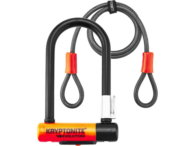 Kryptonite Evolution Mini-7 Bike Lock + Kryptoflex